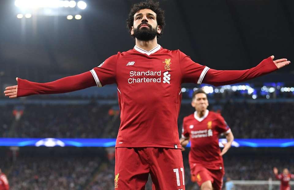 Mohammed Salah Celebrating